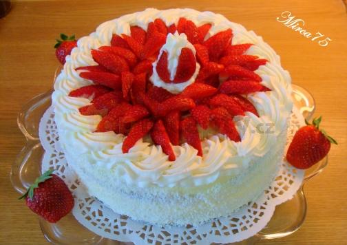 Prázdninový ovocný dort