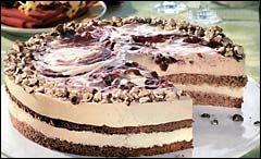 Likérový dort s lískovými oříšky