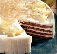 Vrstvený dort s karamelem