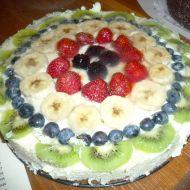 Ovocný máslový dort