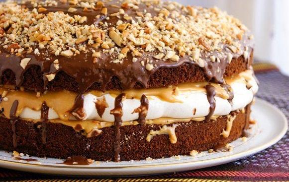 Торт сникерс рецепт с фото пошагово видео
