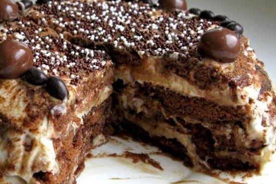 Perníkový nepečený dort