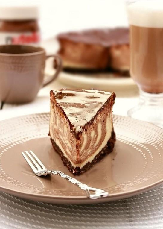 Tvarohovo-nutelový cheesecake